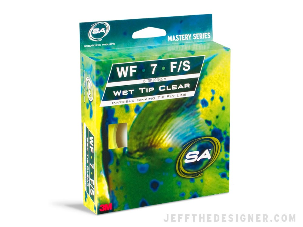 Scientific Anglers Wet Tip Clear Fly Line Packaging Concept