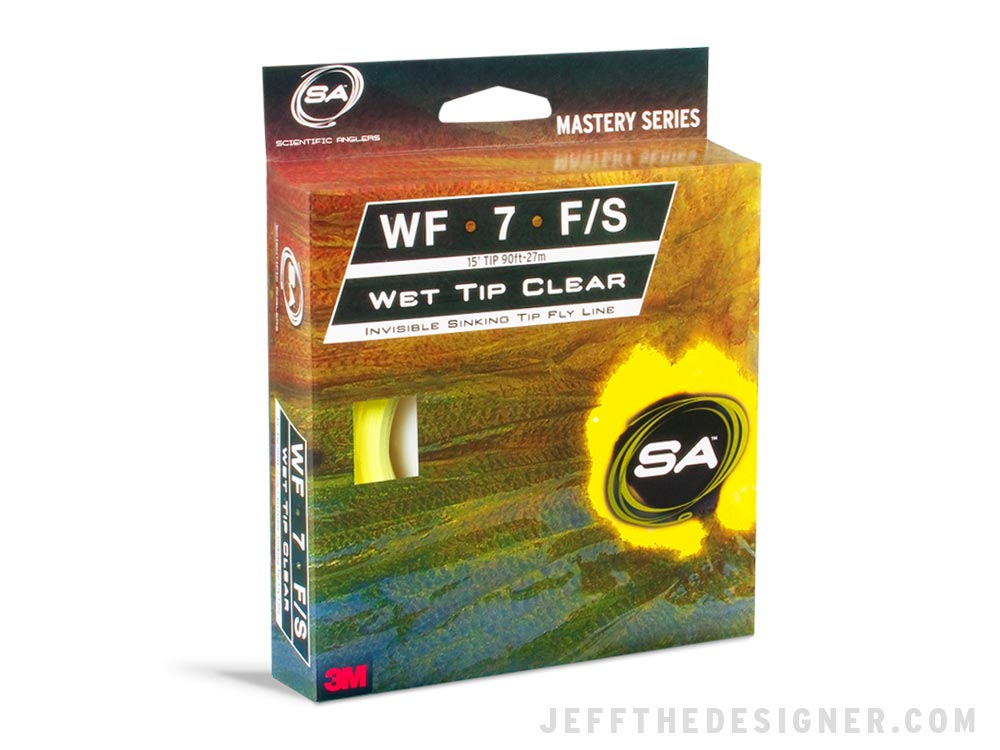 Wet Tip Clear Fly Line Packaging Concept