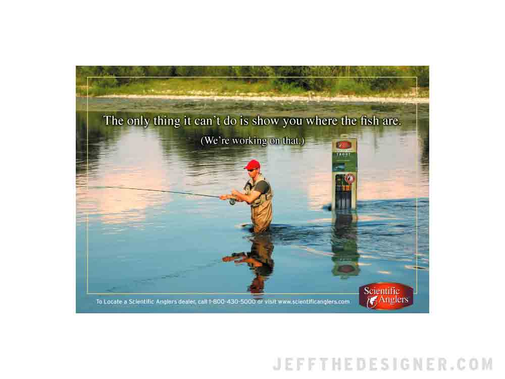 Scientific Anglers Ad (Unpublished Concept)