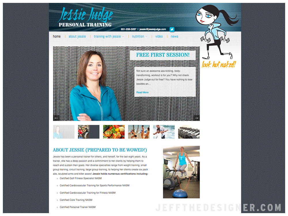 Jessie Judge Personal Training Web Site