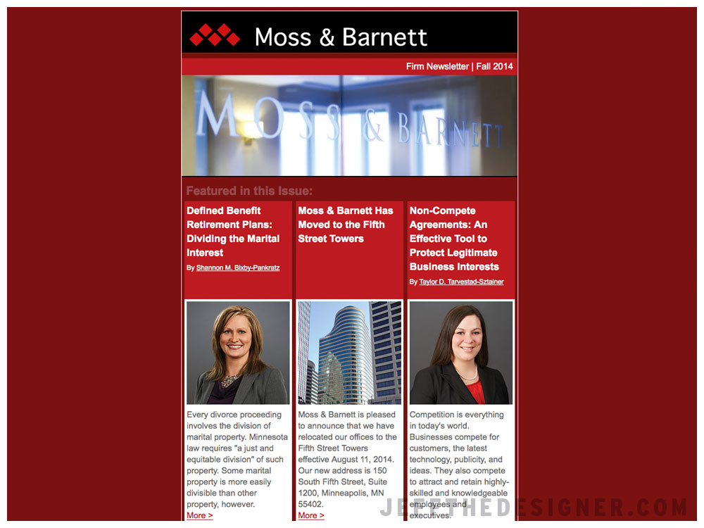 Moss and Barnett Email Newsletter