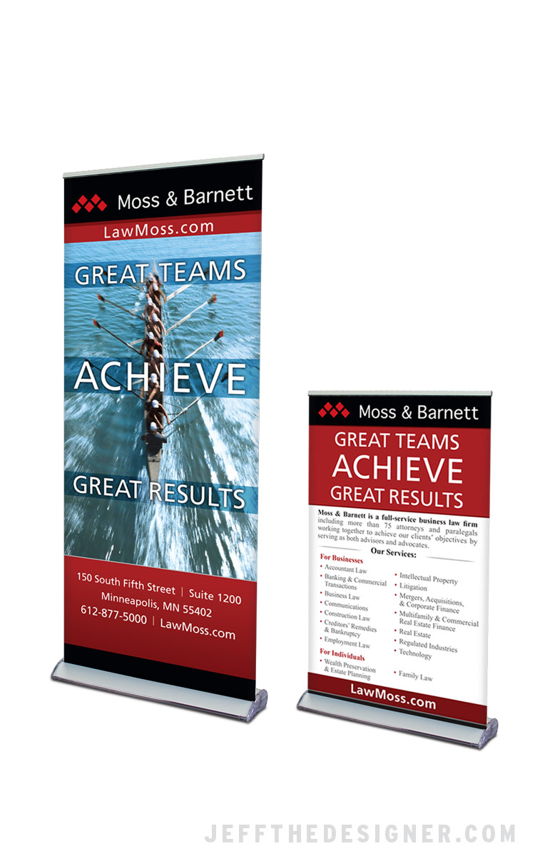 Moss & Barnett Tradeshow Banners