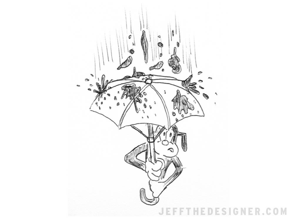 B.S. Umbrella - jeffthedesigner.com