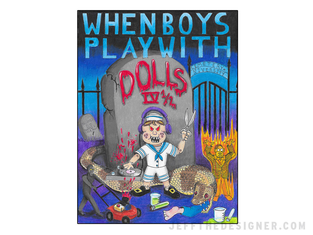 When Boys Play With Dolls Movie Poster - jeffthedesigner.com