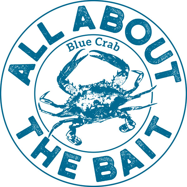 All About The Bait Blue Crab Logo