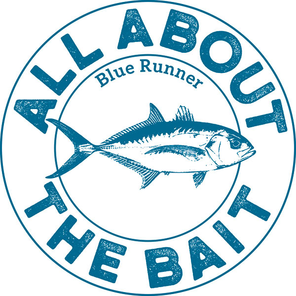 All About The Bait Blue Runner Logo