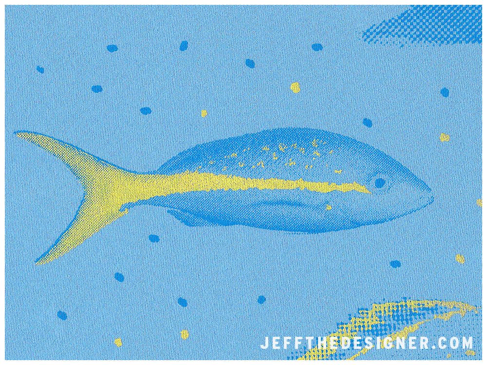 Yellowtail Snapper Illustration Silkscreen