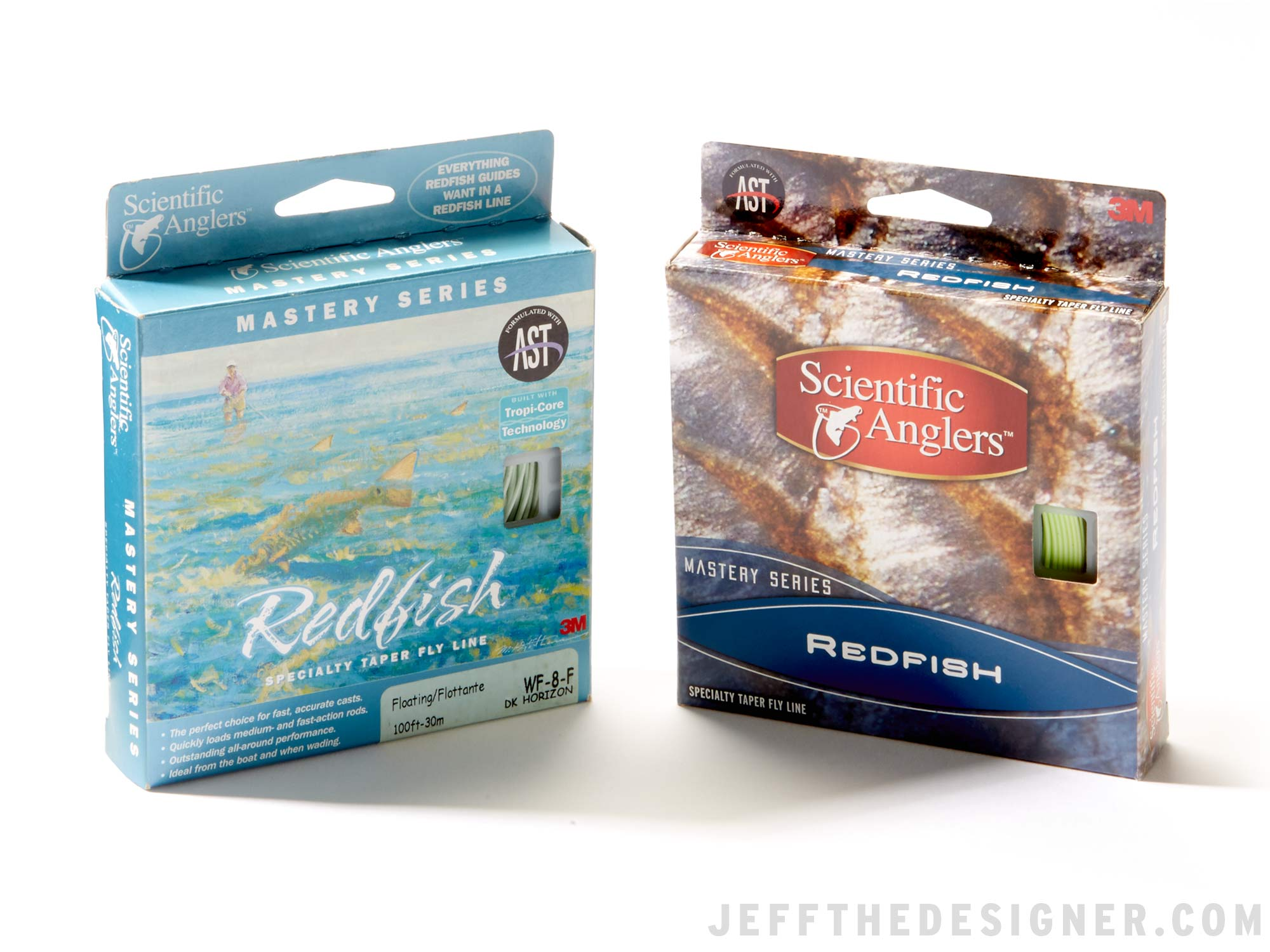 3M Scientific Anglers existing Redfish Fly Line package and redesigned package