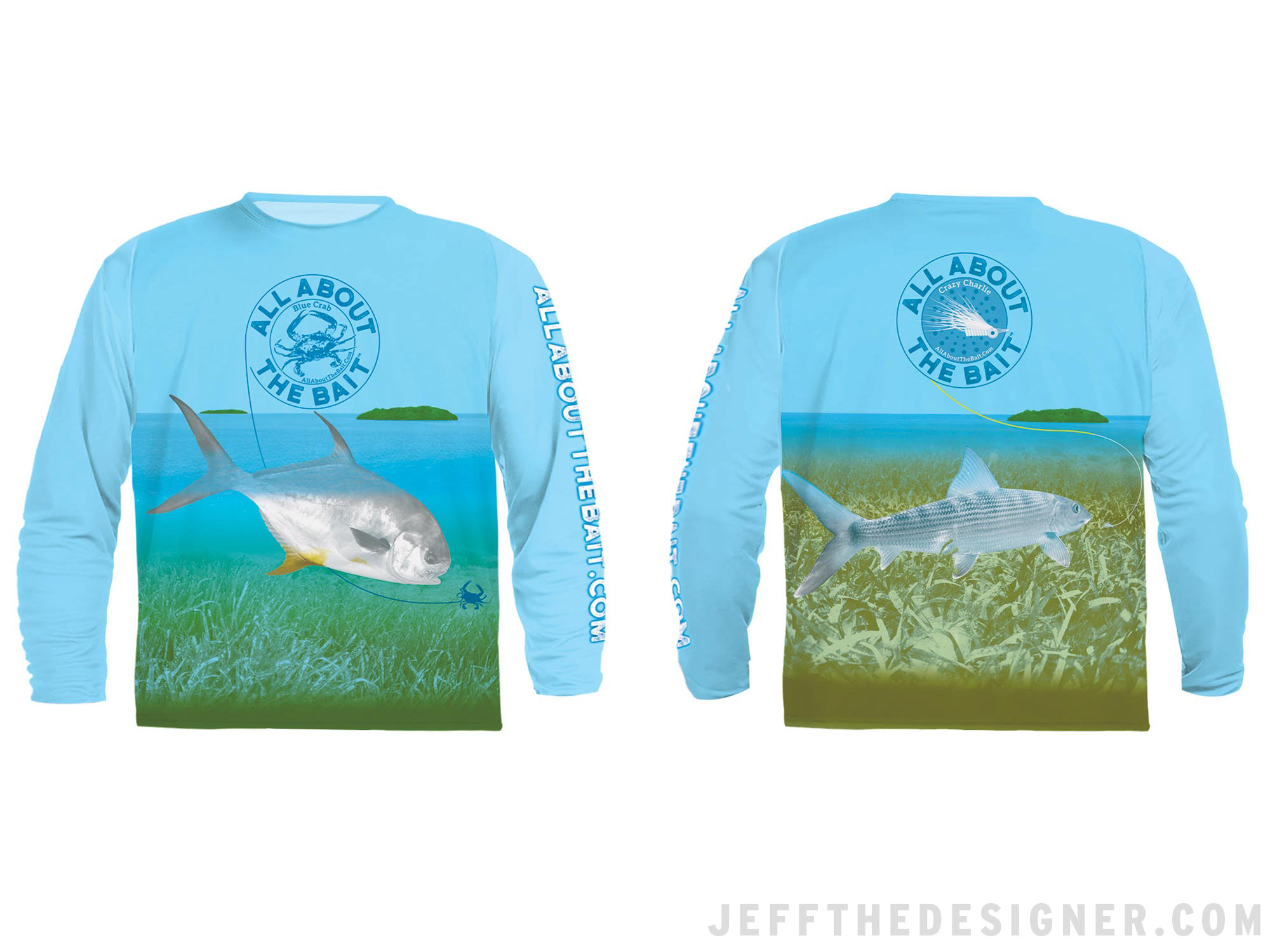 Fishing Shirt Design - Permit and Bonefish on the Florida Keys Flats