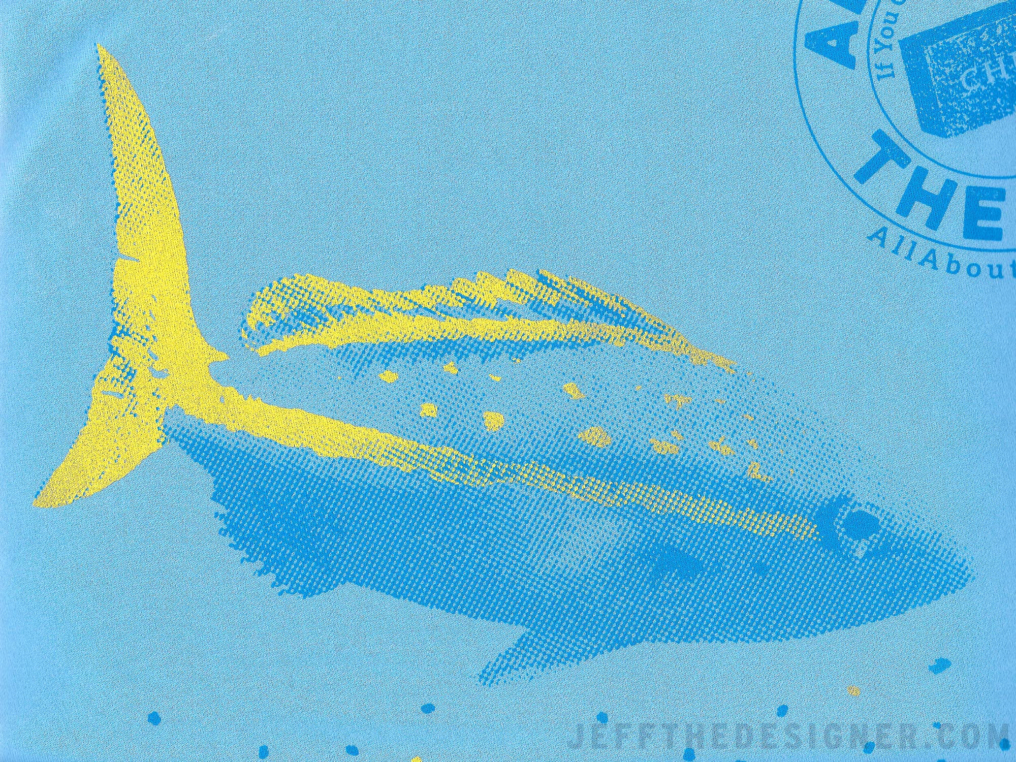 Fishing Shirt Artwork Detail of Screen Printed Yellowtail Snapper