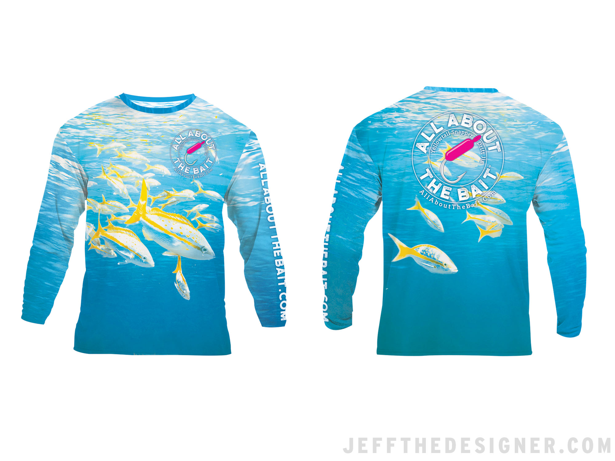 Fishing Shirt Design - Yellowtail Snapper Drift Jig
