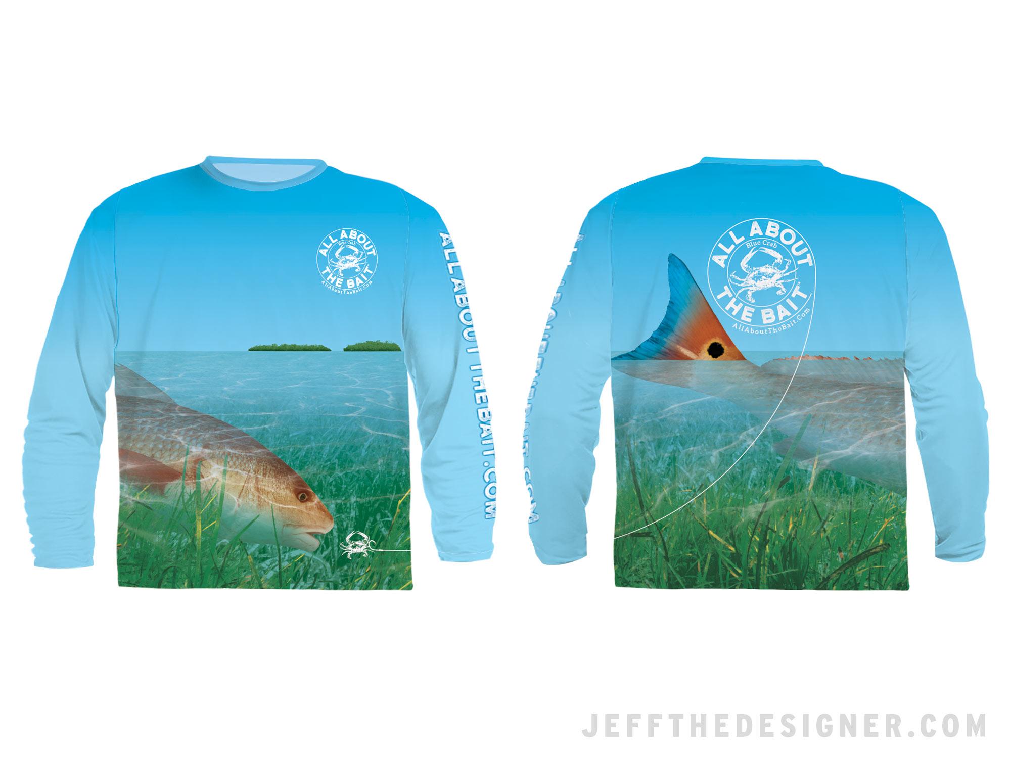 Fishing Shirt Design - Feeding Redfish
