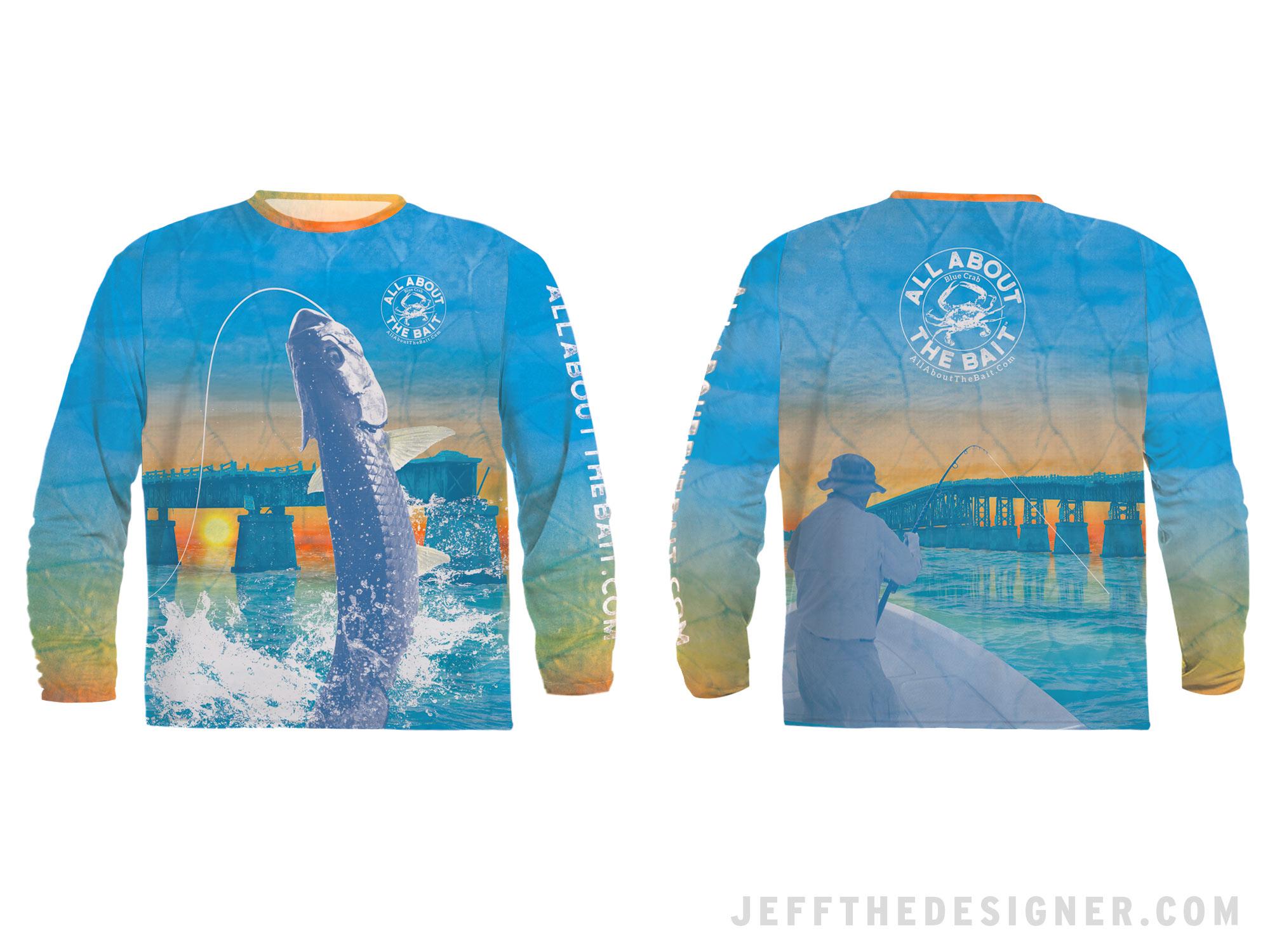 Tarpon Fishing UV Protection Shirt Bahia Honda Florida Keys - jeffthedesigner.com