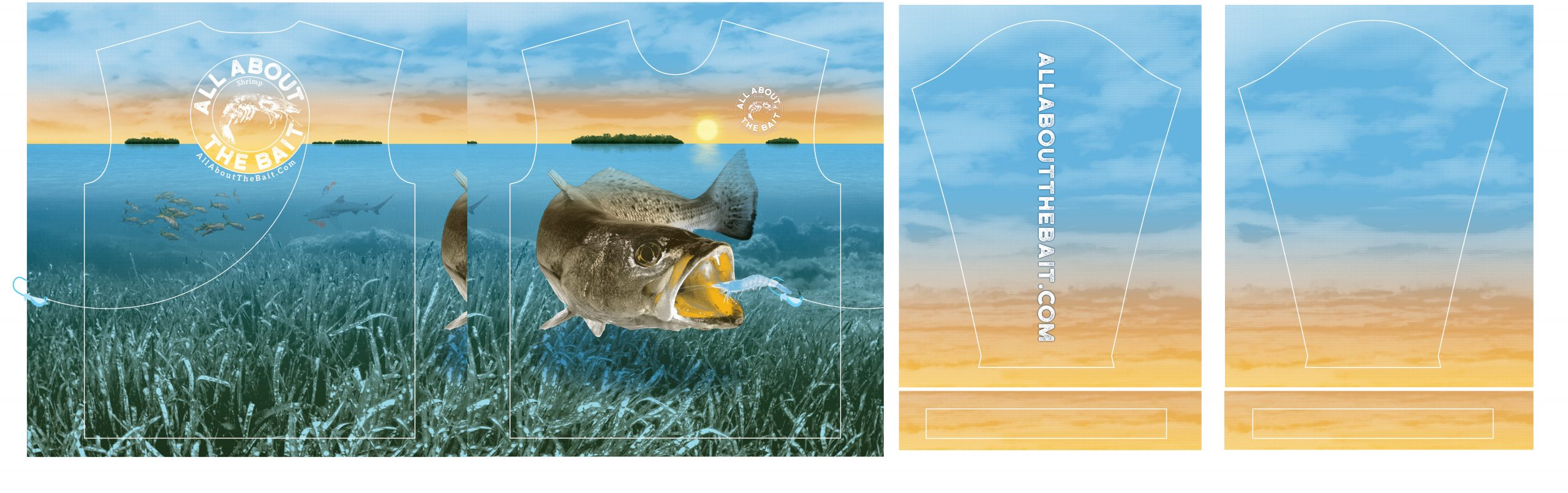 Speckled Trout Fishing Shirt Production Art - jeffthedesigner.com